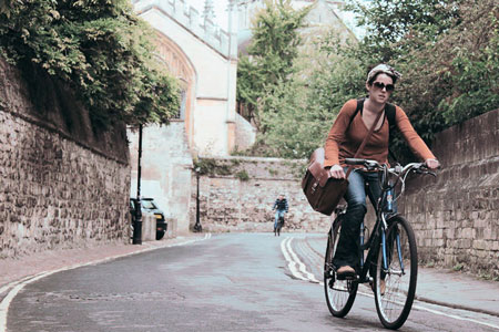 Woman Cycling in Oxford